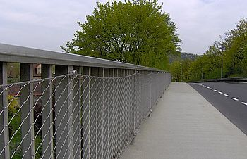 Bridge restoration existing balustrades mesh