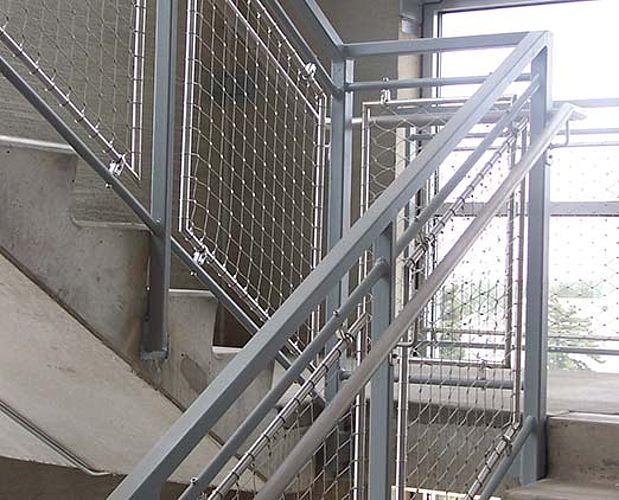 Filet rambarde d'escalier en inox