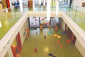 Neckarsulm  Kindertagesstätte Absturzsicherung Fallschutz Deckenöffnung X-TEND Edelstahl-Seilnetz