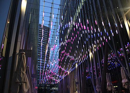 Lichtdecke Pendelleuchten Kreatives Lichtdesign Stadt Beleuchtung