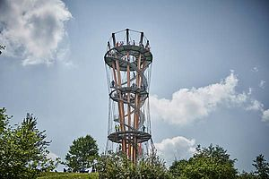 Brüstungsgeländer Aussichtssturm X-TEND Edelstahl-Seilnetz