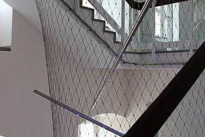 Treppensicherung Treppenstrumpf X-TEND Edelstahl-Seilnetz 3D
