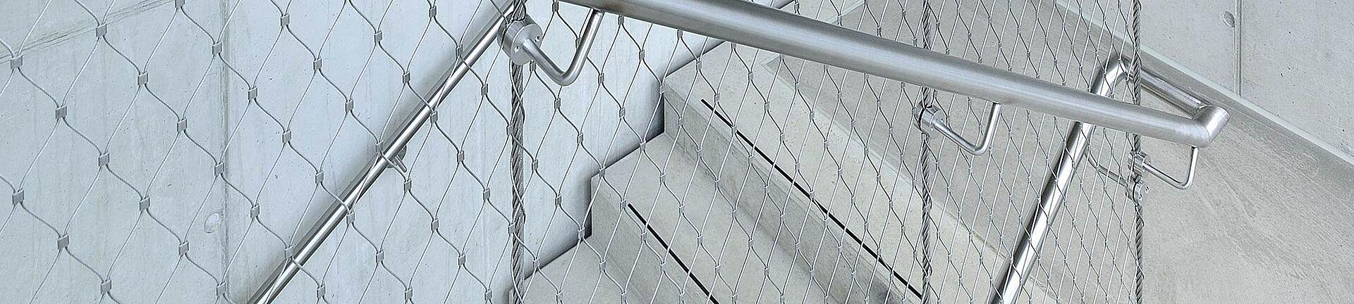 Treppensicherung X-TEND Edelstahl-Seilnetz