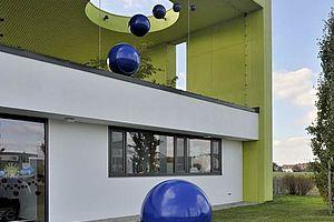 Kinderhaus Absturzsicherung X-TEND Edelstahl-Seilnetz