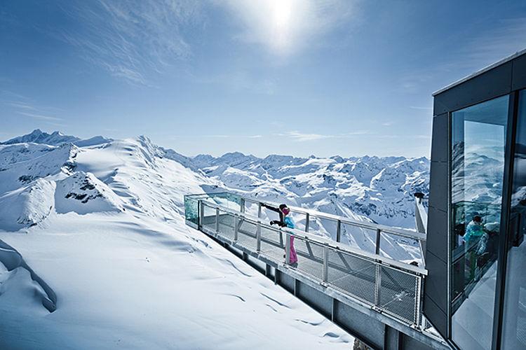 Aussichtsplattform Kitzsteinhorn Österreich X-TEND Edelstahl-Seilnetz