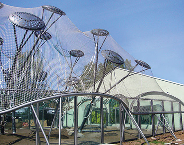 Wire rope free carrying structures Zoo enclosures Carl Stahl Architecture