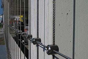 Seil Fassade Absturzsicherung I-SYS Edelstahl-Seilsystem