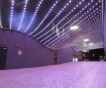 LED Modules safety mesh light ceiling