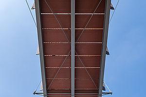 Schrägseilbrücke I-SYS Edelstahl-Seilsysteme