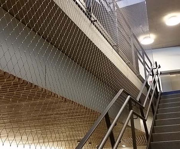 vertical safety barrier staircases net