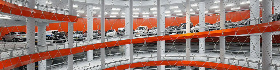 Fall Protection car parks X-TEND stainless steel cable mesh