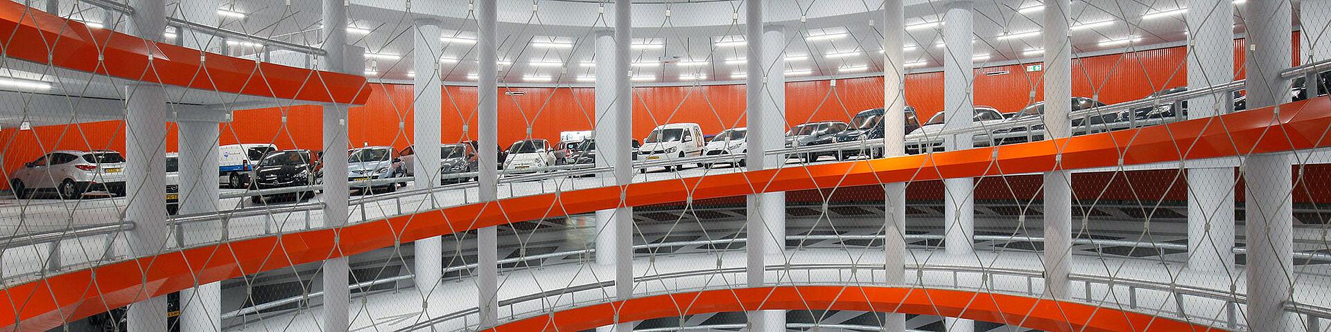 Absturzsicherung Edelstahl-Seilnetz X-TEND Parkhäuser