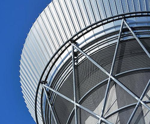 Einflugsicherung an Fassaden X-TEND Edelstahl-Seilnetz