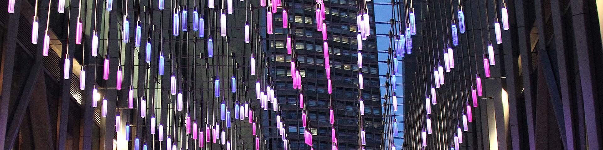 LED Lichtdesign Pendelleuchten Carl Stahl Architektur