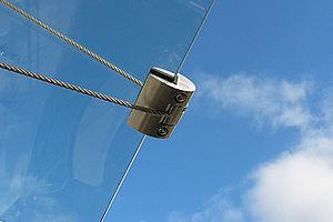 Vordächer Abhängung I-SYS Edelstahlseile Abspannung
