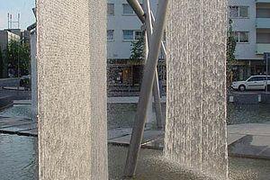 Wasserschleier Netz Brunnen Wasserfall X-TEND