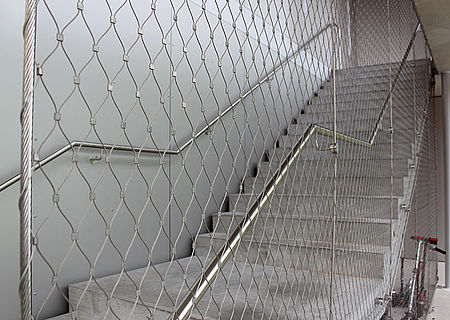 handrails staircase safety mesh
