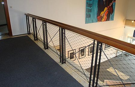 Existing balustrades X-TEND stainless steel cable mesh