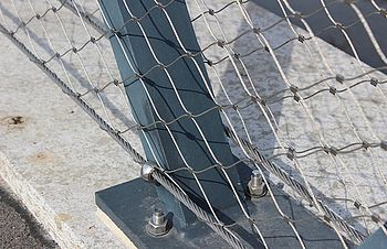 car bridges X-TEND stainless steel cable mesh border cable
