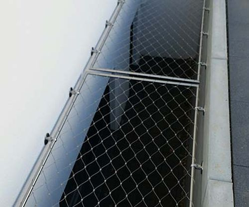 Horizontal safety ceiling X-TEND stainless steel cable mesh