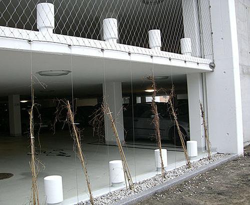 X-TEND Netz Fassade an Randseil Carl Stahl Architektur