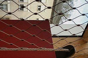 Absturzsicherung Schule Luxemburg X-TEND Edelstahl-Seilnetz