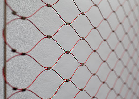 X-TEND Colours Fassadengestaltung Edelstahl-Seilnetz