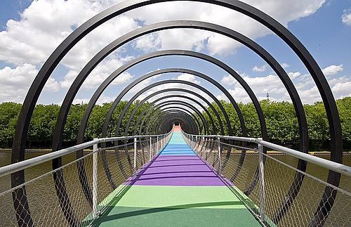 Pedestrian and bike bridges X-TEND stainless steel cable mesh
