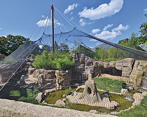 wire rope based carrying structures Zoo enclosures Carl Stahl Architecture