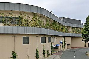 Chinon Center Fassadenbegrünung X-TEND Edelstahl-Seilnetz