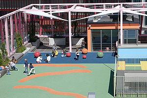 Sicherung X-TEND Edelstahlseilnetz Absturzsicherung Schulen