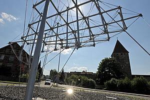 Seilabspannung Kreisverkehr I-SYS Edelstahl-Seilsystem
