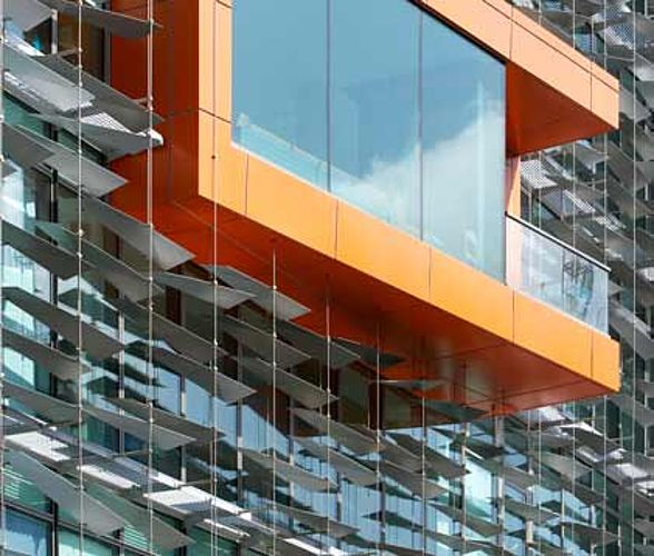 I-SYS Façades with stainless steel wire ropes