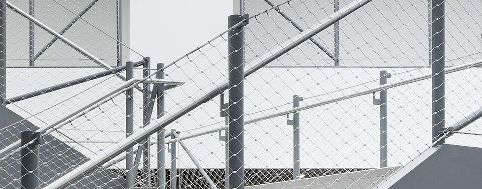 Treppengeländer X-TEND Edelstahl-Seilnetz
