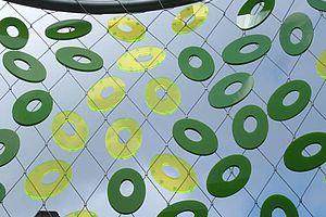 Pailletten auf Netz X-TEND Add-Ons Carl Stahl Architektur