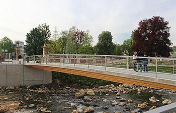 Fuß- und Radwegbrücken I-SYS Edelstahl-Seilsystem
