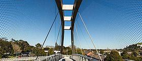 Wurfschutz Autobahn X-TEND Edelstahl-Seilnetz