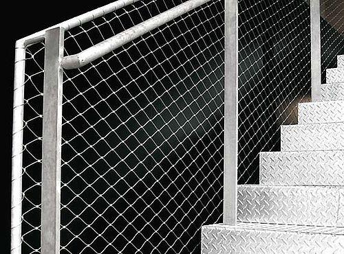 Cage d'escalier en filet en acier inoxydable X-TEND