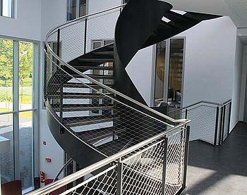 Garde-corps en acier inoxydable pour escalier en colimaçon