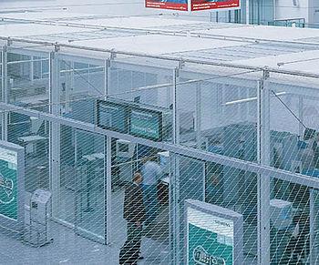Ausbruch Schutz Netze Tatmittelübergabe Wurfschutz