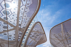 Organische Photovoltaik OPV Carl Stahl Architektur Seilsysteme