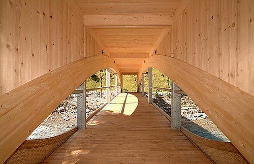 Holzbrücke X-TEND Edelstahl-Seilnetz