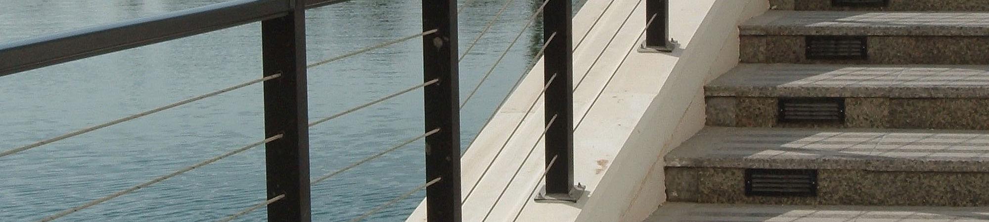 Geländerfüllung Brückengeländer I-SYS Edelstahlseile