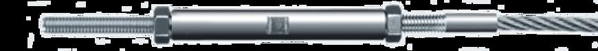 Spannschloss zylindrisch mit Gewinde F30 gehämmert I-SYS Carl Stahl Architektur
