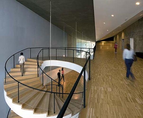 Escalier en colimaçon garde-corps en acier inoxydable