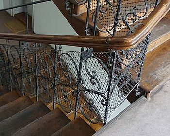 Mise aux normes garde-corps escalier ancien