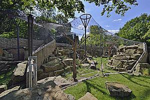 Zoo Dresden Schneeleoparden Gehege X-TEND