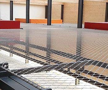 Horizontale Sicherungen Decke X-TEND Edelstahlseilnetz