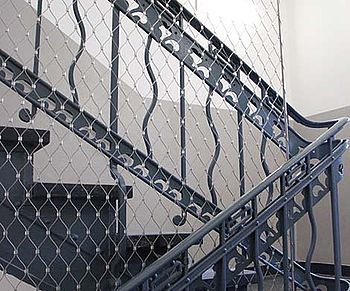 maintenance of existing staircases net netting