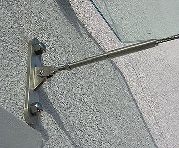 Vordächer Abhängung Zugseile I-SYS Edelstahl-Seilsysteme
